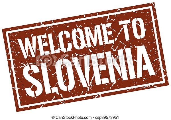 welcome to Slovenia stamp - csp39573951