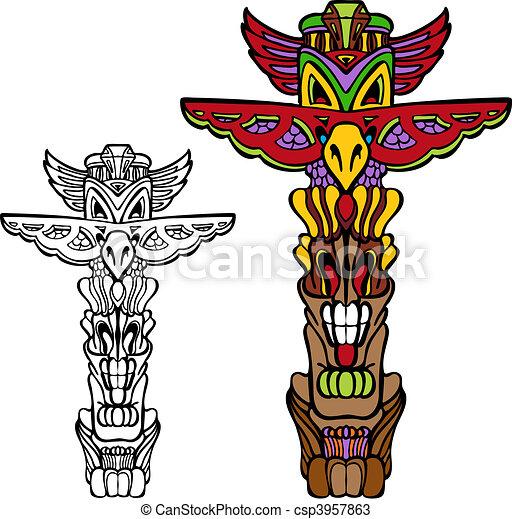 Raven Totem Pole Totem Pole