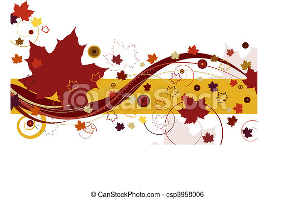 Autumn Leaves in Red - csp3958006