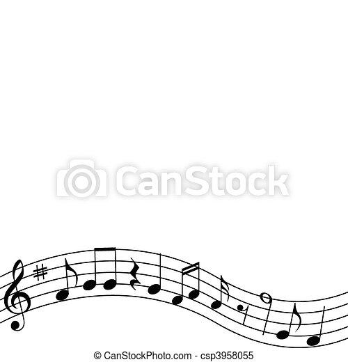 clipart vektor von notizen, musikalisches - musical