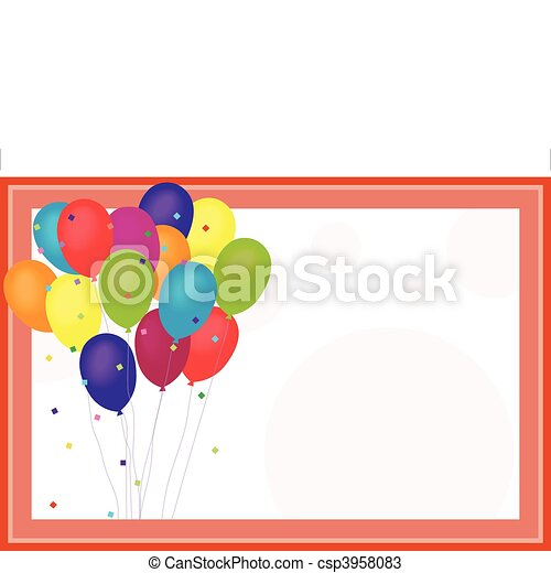 Birthday Balloons - csp3958083