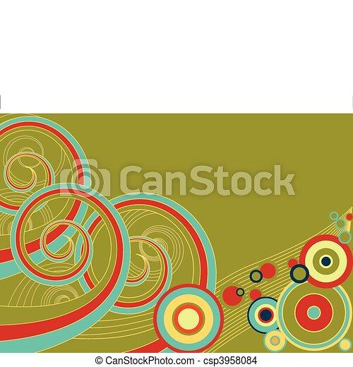Retro Spirals - csp3958084