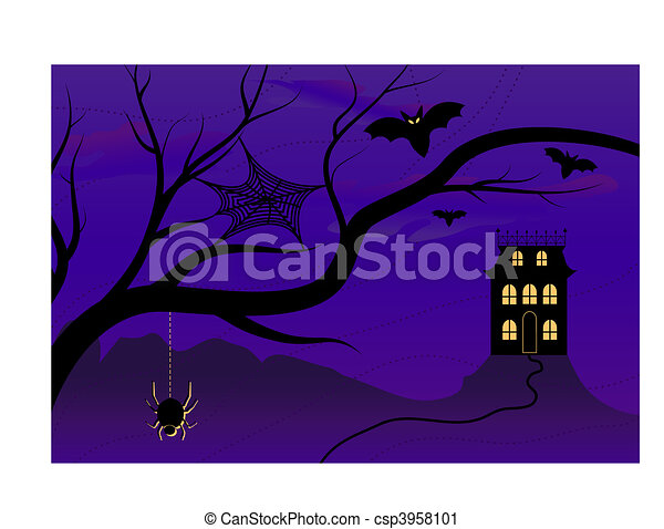 Spooky Halloween House - csp3958101