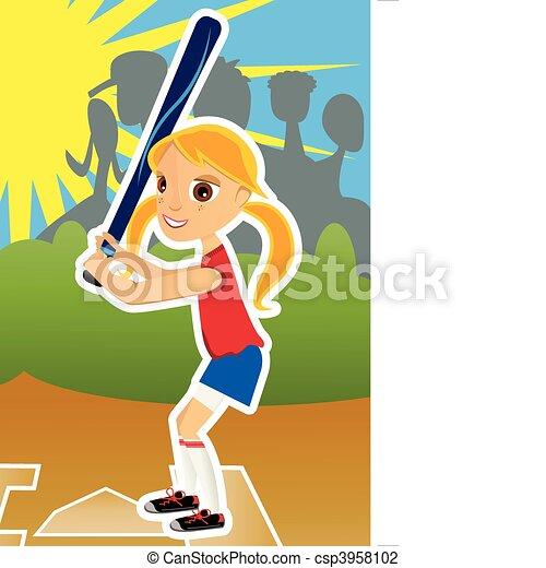 Softball Girl - csp3958102