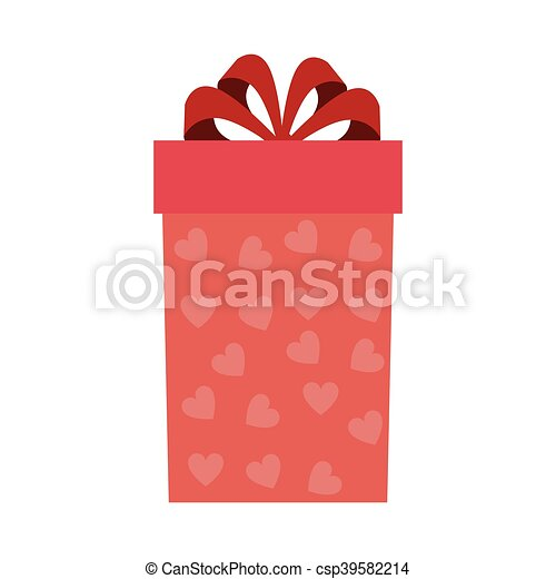 gift box with red ribbon - csp39582214