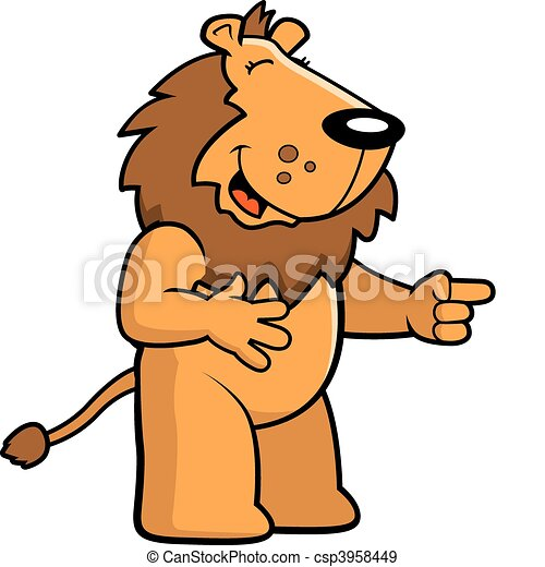 Lion Laughing - A happy Giggle Clipart