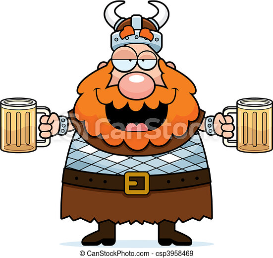 Drunk Viking - csp3958469