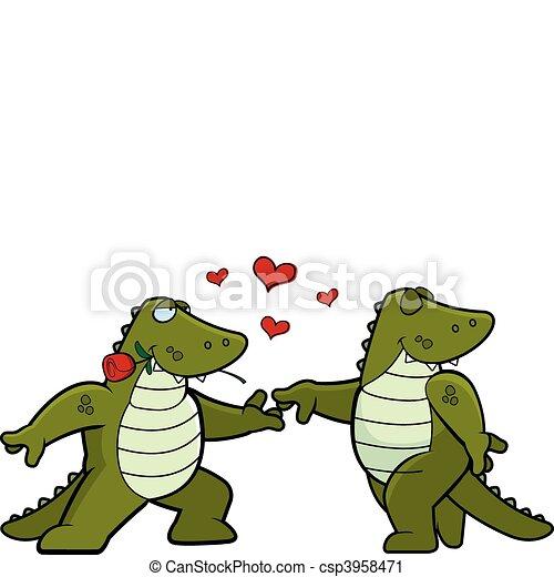Alligator Romance - csp3958471
