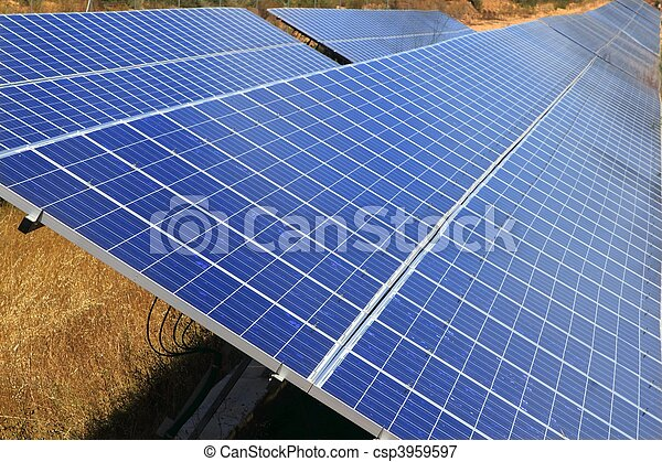 Solar electric plates green energy ecology - csp3959597