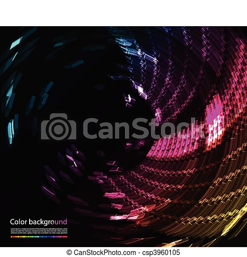 Abstract colorful background - csp3960105