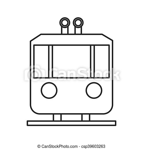 tramway frontview icon - csp39603263