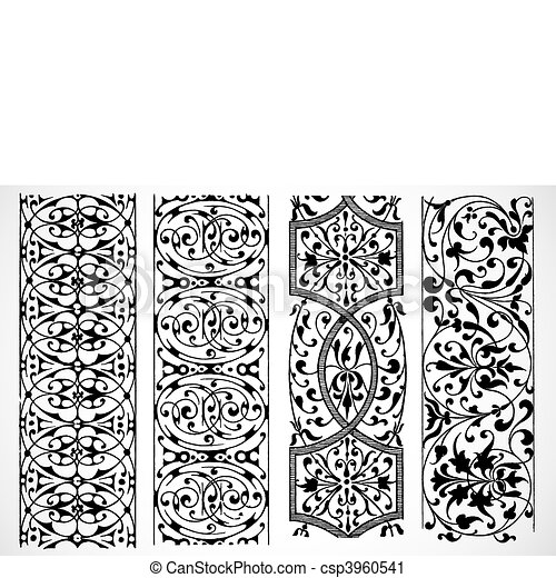Vector Decorative Borders - csp3960541