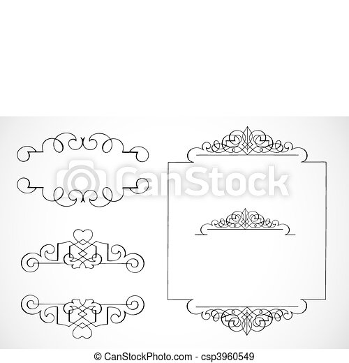 Vector Decorative Frame Ornaments - csp3960549