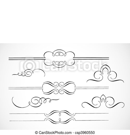 Vector Decorative Frame Ornaments - csp3960550