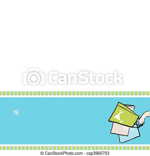 Shopping bags in hand, banner with place for your text - csp3960703