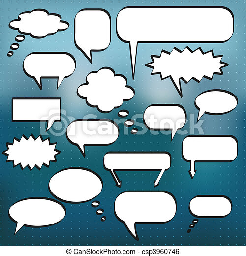 Comic Chat Bubbles - csp3960746