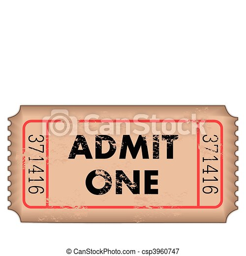 Vintage Admission Ticket - csp3960747