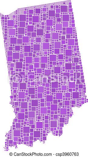 Map Indiana (USA) - csp3960763