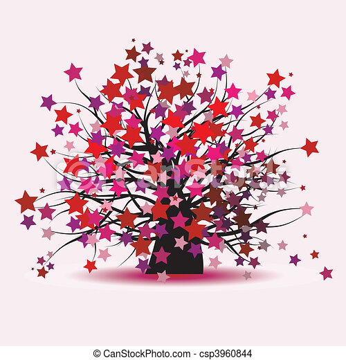 Starry tree fantasy - csp3960844