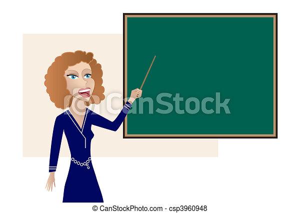 Teacher at the Blackboard - csp3960948