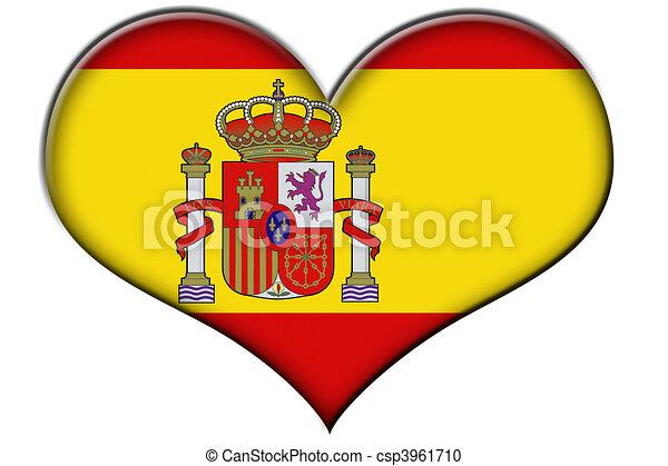 illustration de drapeau  espagne a  coeur   u00e0  les  drapeau  de  spain  csp3961710 french flag clipart french flag clip art large