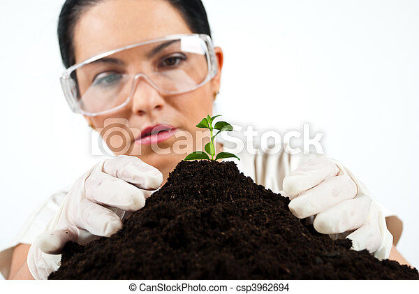 Botanical scientist in laboratory - csp3962694