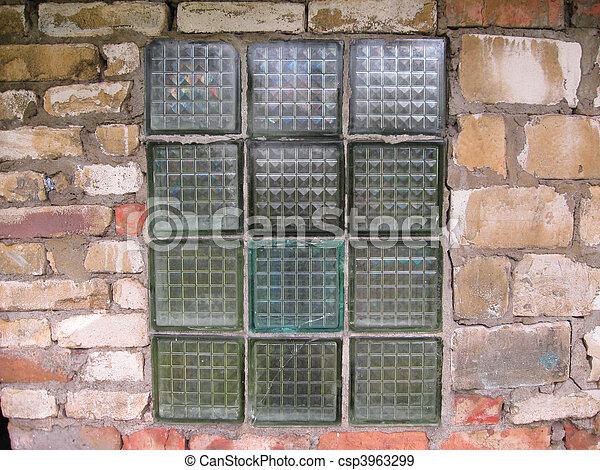 Stock de fotografos de vidrio bloques viejo ventana - Pared de bloques de vidrio ...