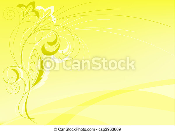 abstract yellow background - csp3963609