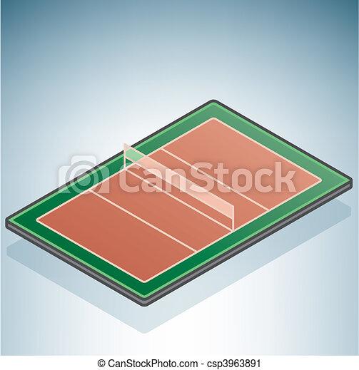 Clipart vettoriali di pallavolo campo part 3d for Disegno 3d free