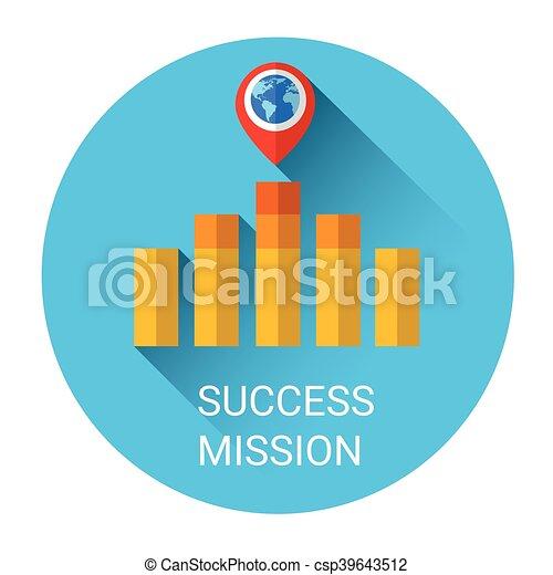 Business Graph Bar Success Growth Icon - csp39643512