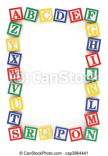 ABC Alphabet Block Frame - csp3964441