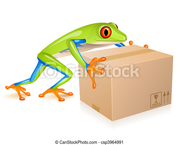 Delivery tree frog - csp3964991