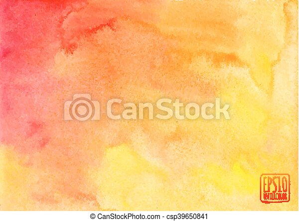 Orange watercolor vector background - csp39650841