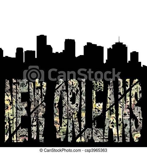 New Orleans City Skyline New Orleans Skyline Clip Art