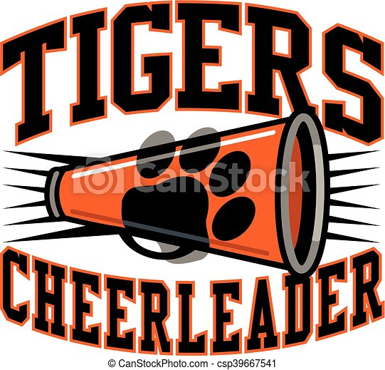 eps vector of tigers cheerleader team design with free cheers clipart free cheerleader clipart black and white