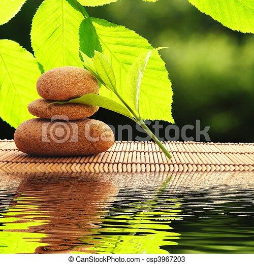 Zen, pedras - csp3967203