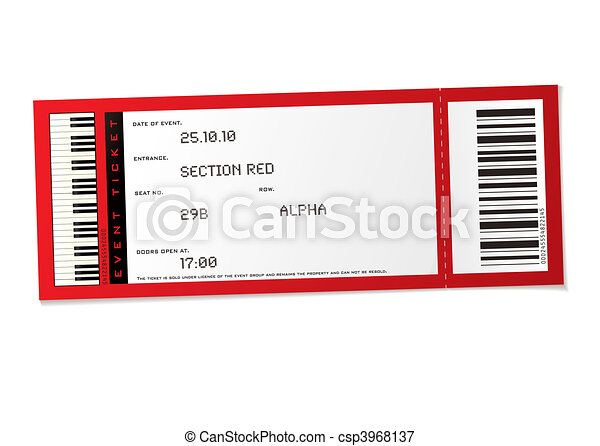 concert event ticket - csp3968137