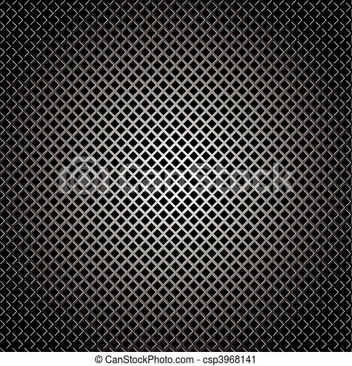 diamond silver grill background - csp3968141