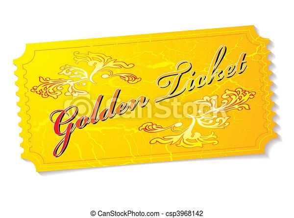 golden ticket - csp3968142