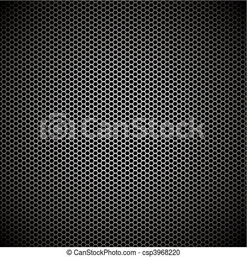 hexagon metal background - csp3968220