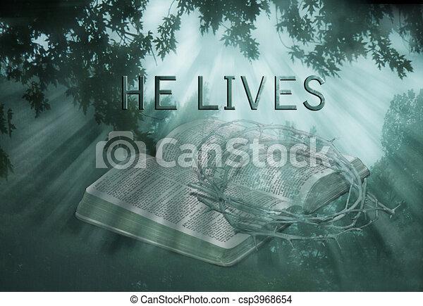 He Lives - csp3968654