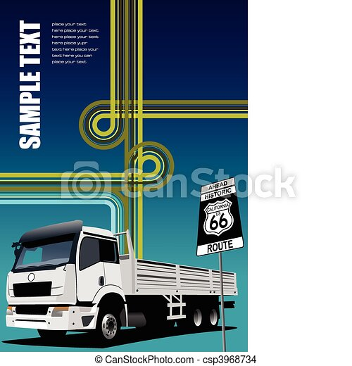 Cover for brochure or template off - csp3968734