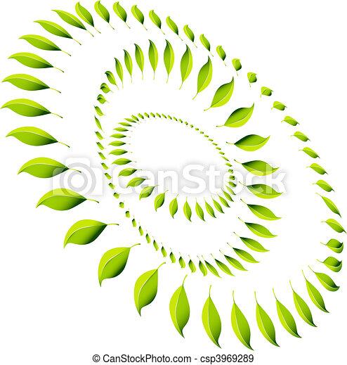 Energy Leaf Circle - csp3969289