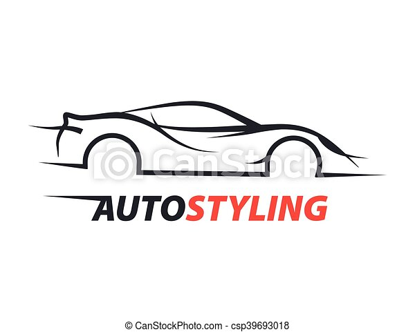 Vector Clip Art Of Concept Car With Supercar Sports Vehicle