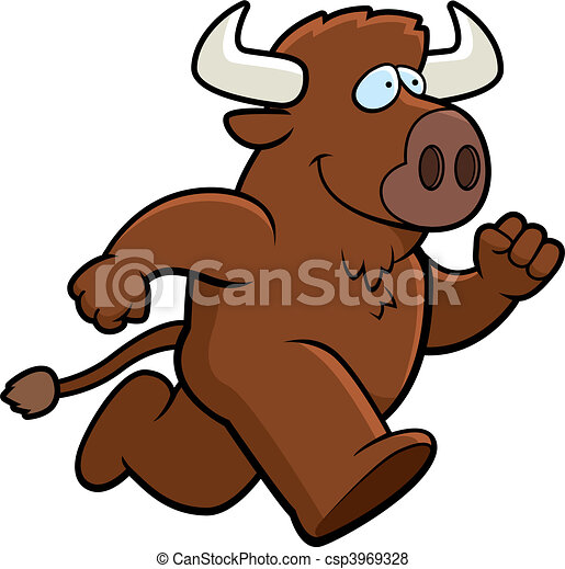Buffalo Running - csp3969328