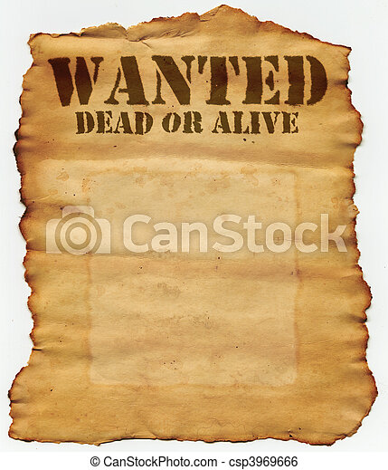 Wanted Dead or Alive - csp3969666
