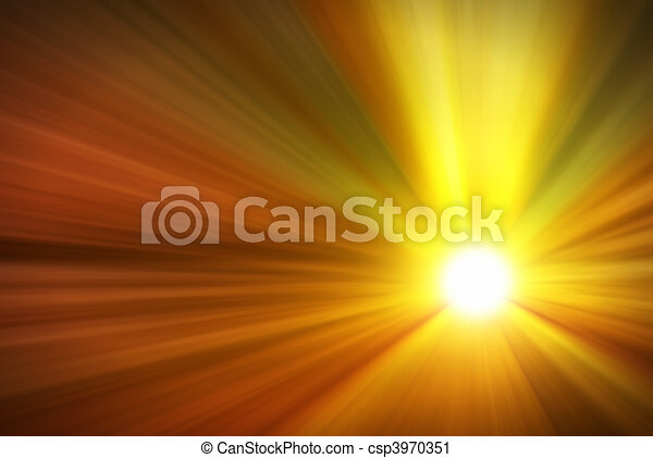 Strong Light Rays From A Burning Sun - csp3970351