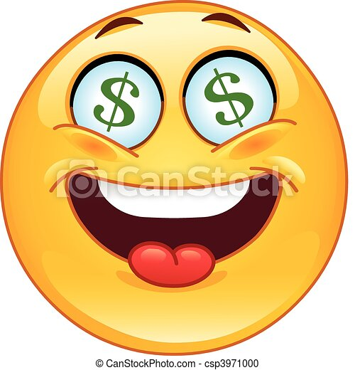 Dollar emoticon - csp3971000