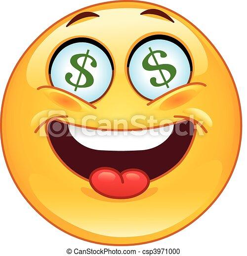 Dollar emoticon - csp3971000