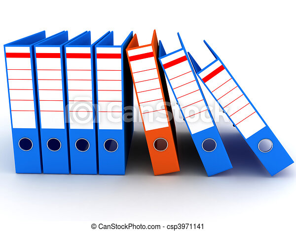 Folders on white background - csp3971141